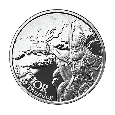 1 Oz Silver Coin Thor-Valkyrie *norse God Series #2 In Series Proof-#coa Viking