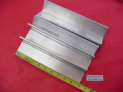 """4 Pieces 2""""x 2""""x 1/4"""" ALUMINUM 6061 ANGLE BAR 10"""" long T6 Extruded Mill Stock"""