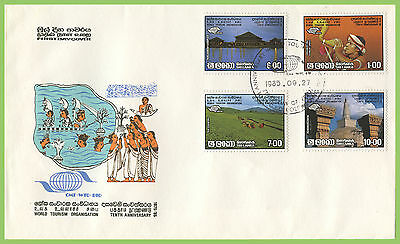 Sri Lanka 1985 World Tourism Organisation set First Day Cover
