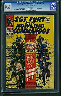 Sgt. Fury and His Howling Commandos #48 (1967) CGC Graded 9.6 Dick Ayers Hitler