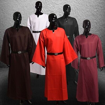 Medieval Renaissance  Cosplay Costume Larp Wicca Pagan Ritual Robe Gown W Belt