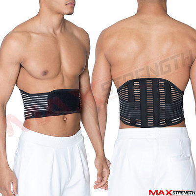 Elastic Lumbar Lower Back Waist Support Strap Pain Relief Gym Bodybuilding Belt