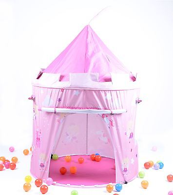 Fairy Tale Princess Castle Pop Up Play Tent Fun Playhouse For Childrens - Pink