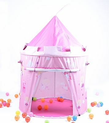 Pink Fairy Tale Princess Castle Childrens Pop up Play Tent Fun  Playhouse