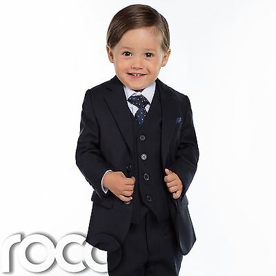 Baby Boys Navy Suit, Navy Page Boy Suits, Slim Fit Suit, Toddlers Suit