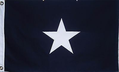 Cotton Bonnie Blue Flag - Sewn Star - 2X3 - Civil War - Dixie