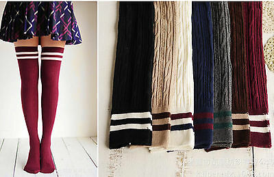 1Pair Women Girl Winter Warm Thigh High Over Knees Long Stockings tights Socks