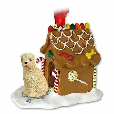 Soft Coated Wheaten Terrier Dog Gingerbread House Christmas ORNAMENT