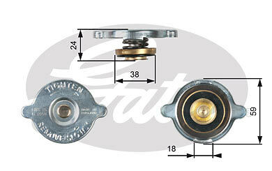 New Gates - Radiator Cap - Rc113