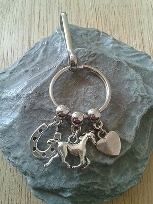 Horse. Key Ring/Bag charm.