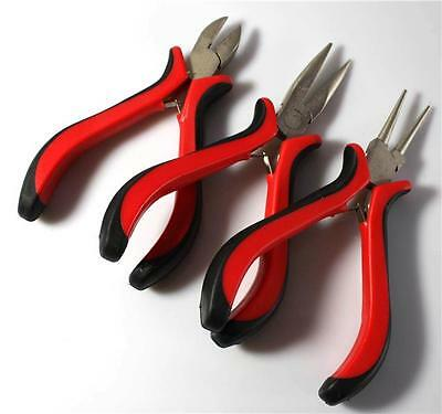 JEWELLERY MAKING MINI PLIERS Set Flat Long Round Nose