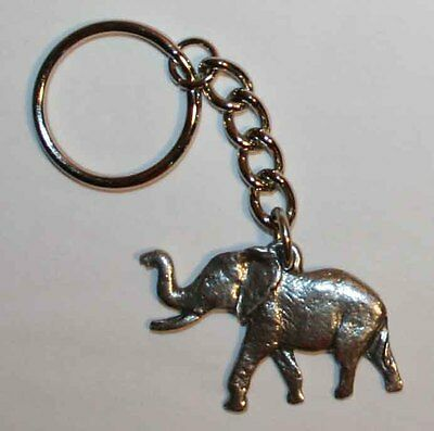 ELEPHANT Fine Pewter Keychain Key Chain Ring USA Made