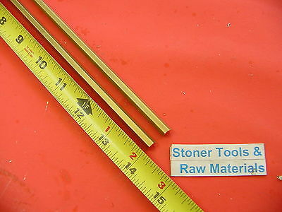 "2 Pieces 1/4"" C360 BRASS HEX BAR 14"" long New Lathe Bar Stock .250"" 1/2 Hard"