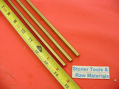 "3 Pieces 1/4"" C360 BRASS HEX BAR 14"" long New Lathe Bar Stock .250"" 1/2 Hard"