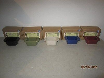 Longaberger Sweetener Sugar Pottery  Holder Your Choice of Color 5 Choices