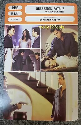 US thriller Unlawful Entry Kurt Russell Ray Liotta French Film Trade Card