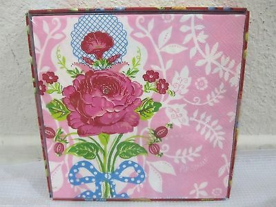 NEW PIP Studio 20 Pink Shabby Chic Flower Floral Paper Napkins 13 x 13