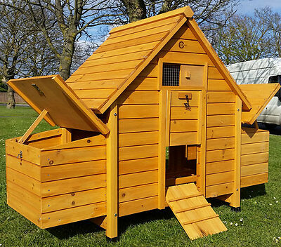 Chicken Coop Run Hen House Poultry Ark Home Nest Box Coup Coops 6002N