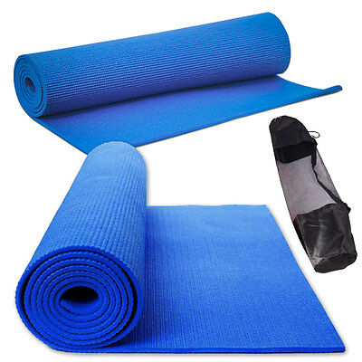Yoga Mat Exercise Fitness Physio Gym Pilates Mats 6mm Thick Non Slip FREE CASE