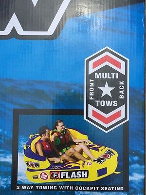 New Nib WOW, FLASH  2 PERSON TOWABLE, RAFT,  FLOAT