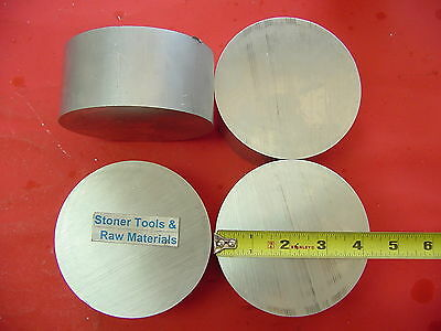 "4 Pieces 4-1/4"" OD ALUMINUM 6061 ROUND ROD 2"" LONG SOLID T6511 Lathe Bar Stock"
