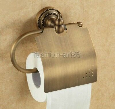 Antique Brass Wall mounted bathroom toilet tissue Paper roll holder Fba079
