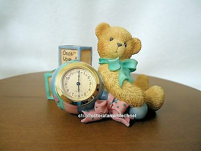 Cherished Teddies Clock Once Upon A Time Baby 2001  NIB