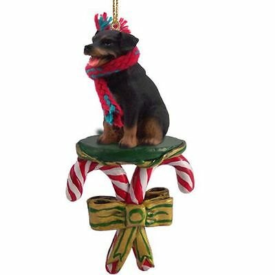 ROTTWEILER Candy Cane Christmas Tree Holiday ORNAMENT