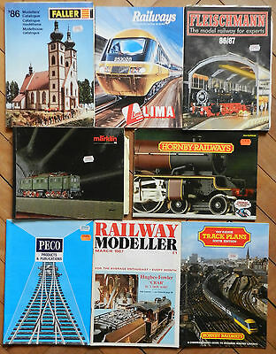 1980s MODEL RAILWAY CATALOGUES, TRACK PLANS - TAKE YOUR PICK INDIVIDUALLY PRICED