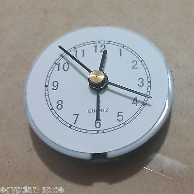 1x Small Clock Mechanism White / Black Movement Alarm DIY Quartz LR44 AG13