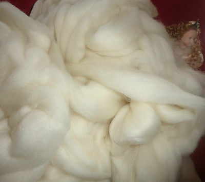 Beautiful Tops/rovings  Natural White Coloured Corriedale  Spinning