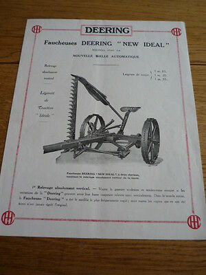DEERING NEW IDEAL MOWER BROCHURE 1925 jm