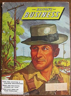 "June 1947 ""Nation's Business"" Magazine published by U.S. Chamber of Commerce"
