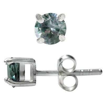 Simulated Color Change Alexandrite 925 Sterling Silver Stud Earrings