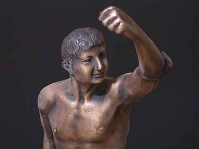 Bronze Olympian Man Early Greek Olympic Symbol Sculpture