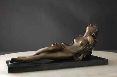Bronze Nude Reclining on Marble Base