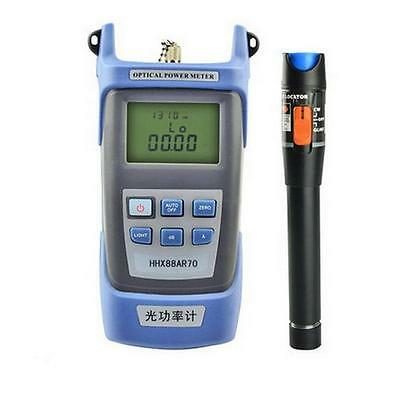 Fiber Optical Power Meter + 10mW 10km Visual Fault Locator Cable Tester  S