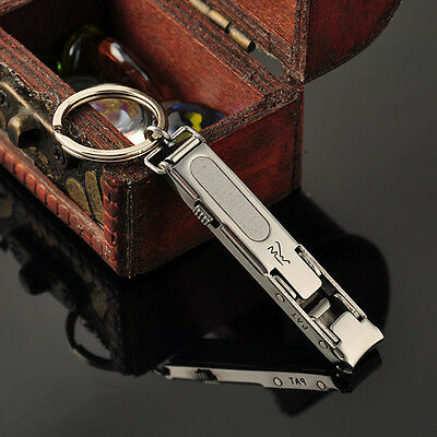 Ultra-thin EDC keychain Foldable Nail Clippers Cutter Trimmer Stainless Steel PS