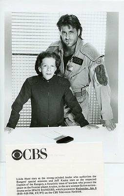 Linda Hunt Jeff Kaake Portrait Space Rangers Original 1992 Cbs Tv Photo