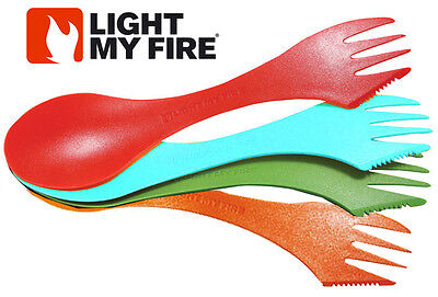 Light My Fire Spork 4 Set Pack Spoon Fork Knife Combo