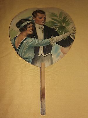 Vintage The Home Restaurant St James Block Lake George Ny Advertising Hand Fan
