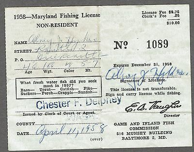 licenses, vintage, fishing, sporting goods | picclick
