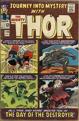 Journey Into Mystery #119 - VG- - 1st Warriors Three