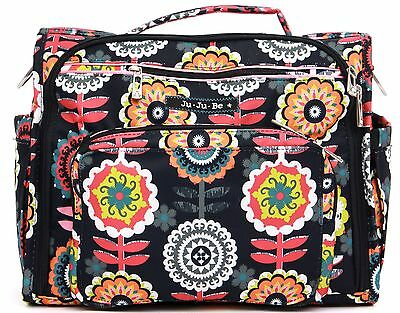 Ju Ju Be BFF Baby Diaper Bag Backpack Dancing Dahlias with Changing Pad NEW