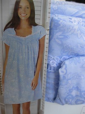 NEW NWT E.W. by Eileen West cap sleeve short length gown MANY/SIZES/CLRS