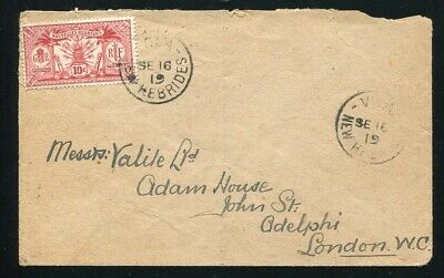 New Hebrides New Hebrides 1919 Cover To London