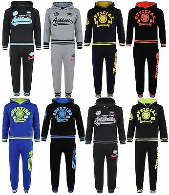 Kids Tracksuit Boys Girls Jog Set Hooded Top & Joggers 2Pc Outfit Bnwt
