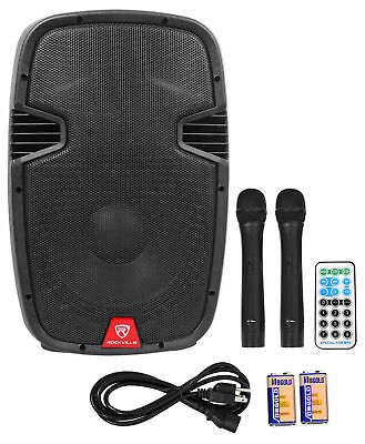 "Rockville 12"" Portable YouTube Karaoke Machine/System w/ 2 Mics See Description!"
