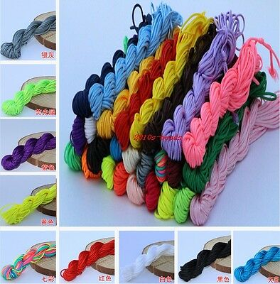 DIY 1.5mm Nylon Cord Thread Chinese Knot Macrame Rattail Bracelet Braided String