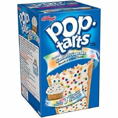 Kellogg's Pop Tarts Frosted Confetti Cupcake Toaster Pastries 14.7 oz Box